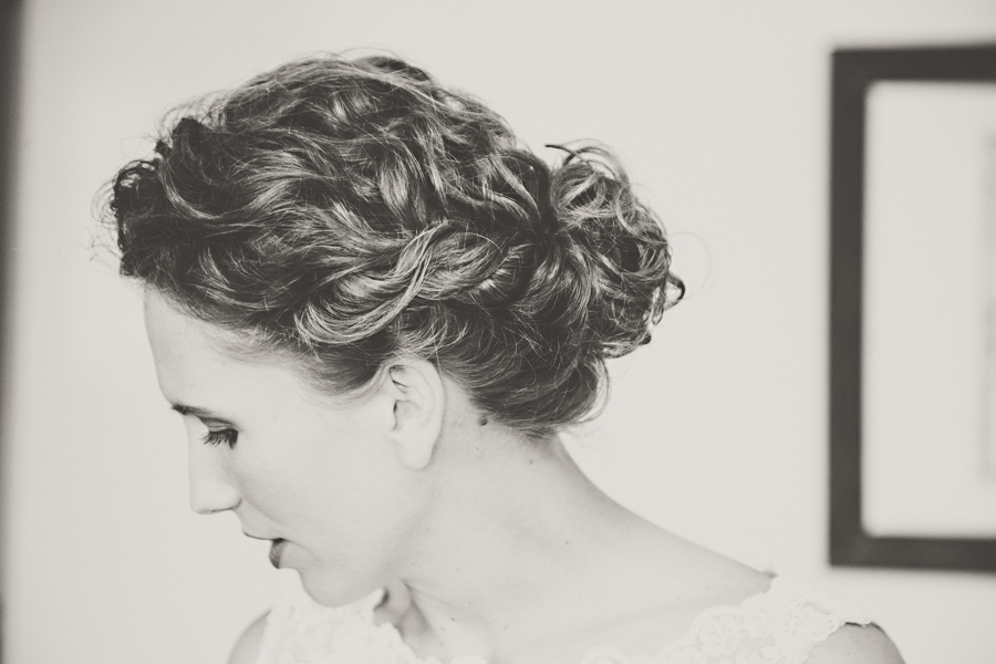 bride hair photo